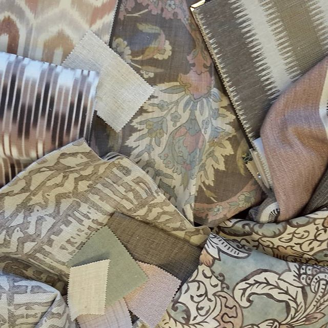 A beautiful sophisticated colour scheme#interiors#fabrics# colour palette#st leger and viney