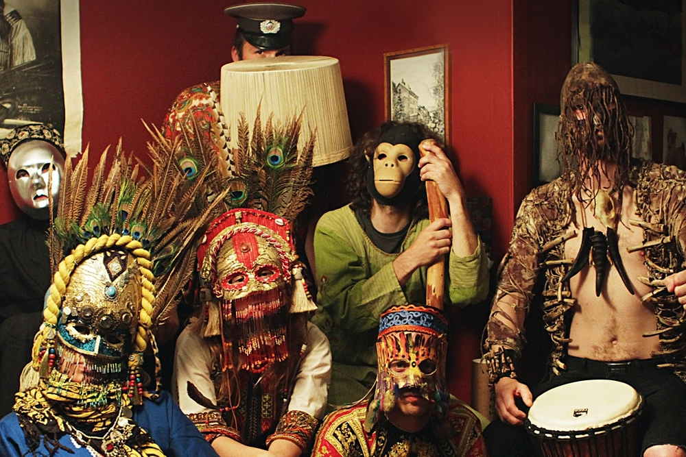 The band performs wearing masks and costumes. / (Photo Credit: Tammy Karlsson)