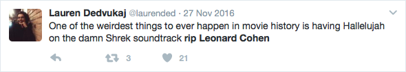 Some of the moving tributes posted in honour of adored celebrities, such as Leonard Cohen.