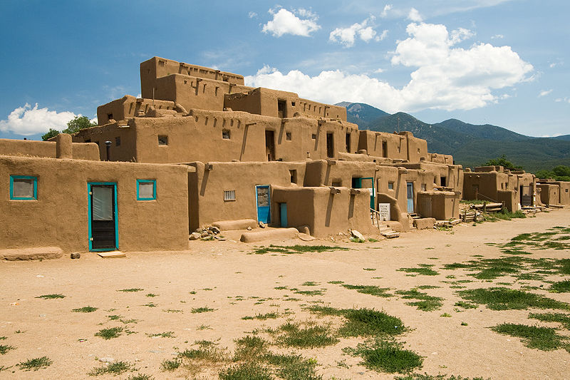 Taos New Mexico, Adobe Dwellings over 1000 years old