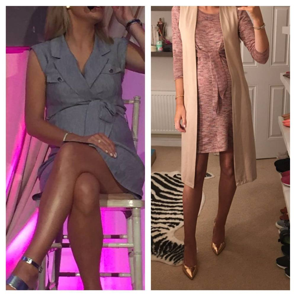 Pippa O'connor showing off her perfect pins recently ....look at the sheen.