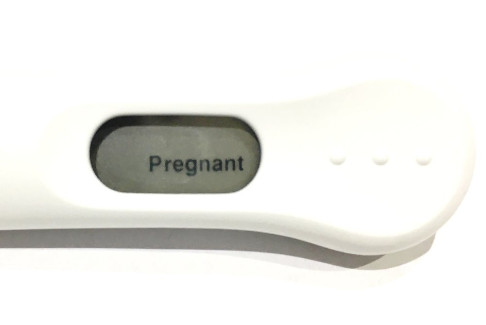 My actual factual pregnancy test.  Probably still with some wee on it.   Sorry.