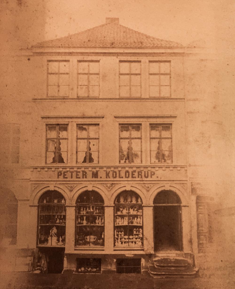 Peter M. Kolderup Store at Strandgaten, Bergen located in the western part of Norway (1860)