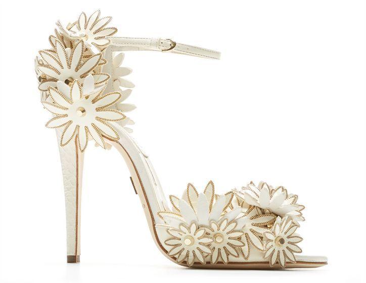 4f06dde21008 Ivory Flower Wedding Shoes — Enraptured Events