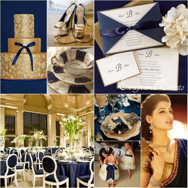 Navy Gold Collage