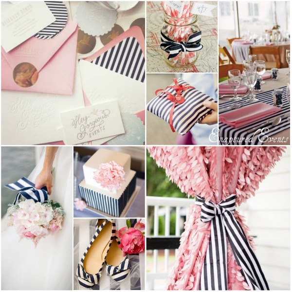 Navy Stripe Pink Collage
