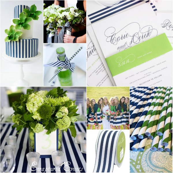 Navy Stripe Green Collage