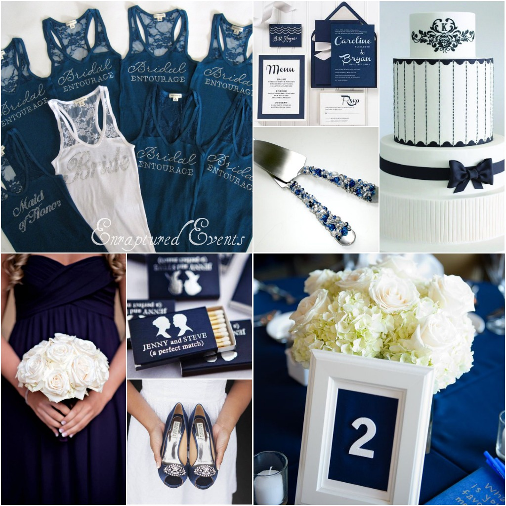 Navy White Collage