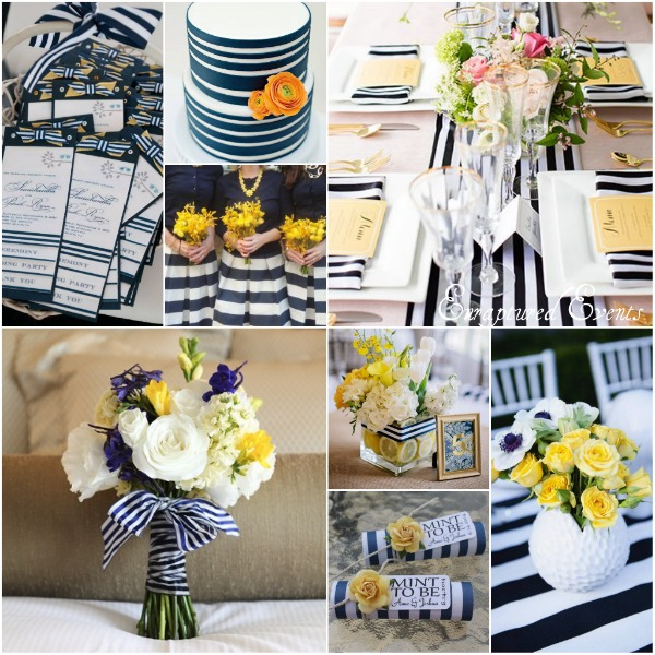 Navy Stripe Yellow Collage