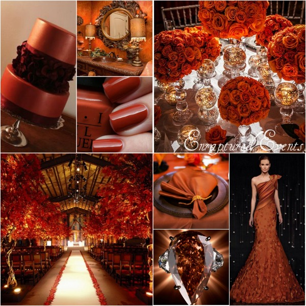 Burnt Orange Brown Collage