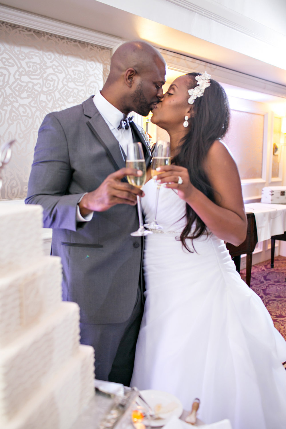 Image from  Leslie & Jamaal's Wedding ; Courtesy of  Michelle Davina Photography
