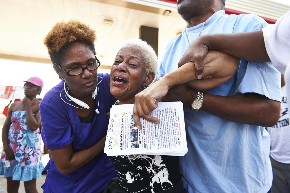 Copy of Demonstrators protest Michael Brown fatal shooting