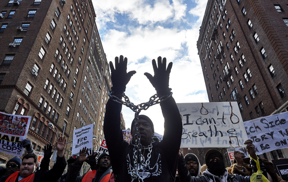Demonstrators march from Washington Square Park during the Millions March protest on Saturday, Dec. 13, 2014 in New York, N.Y.