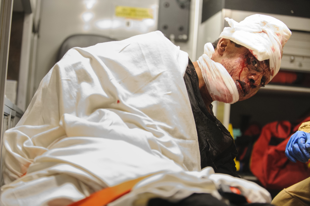 Emergency medical technicians and paramedics removed one of two victims after a fatal fire at 1980 Park Avenue on Saturday, Nov. 10, 2012 in New York, NY.