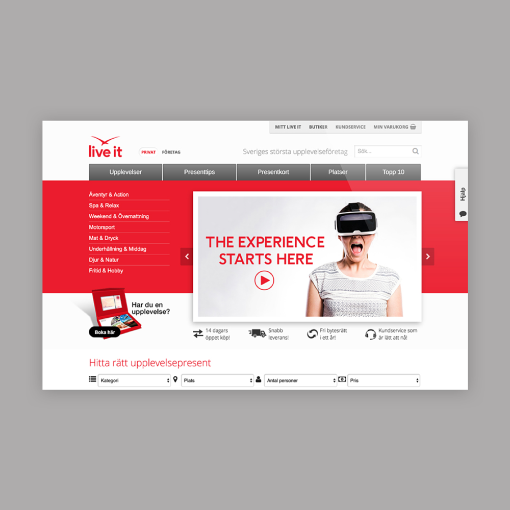 liveit  website design -