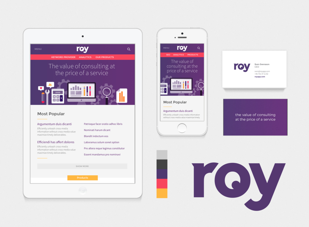 roy app branding -
