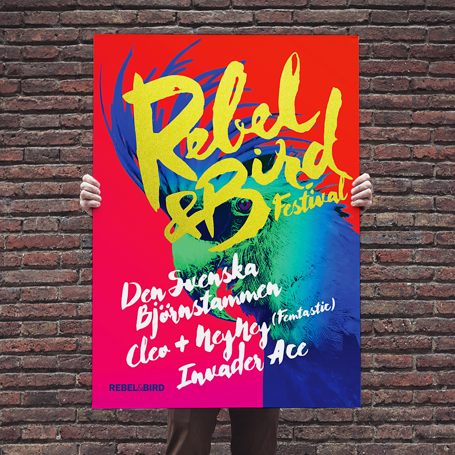 rebel & bird  music festival poster -