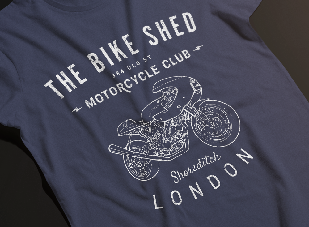 the bike shed  tshirt series -