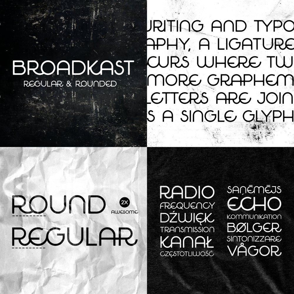 broadcast font buy -