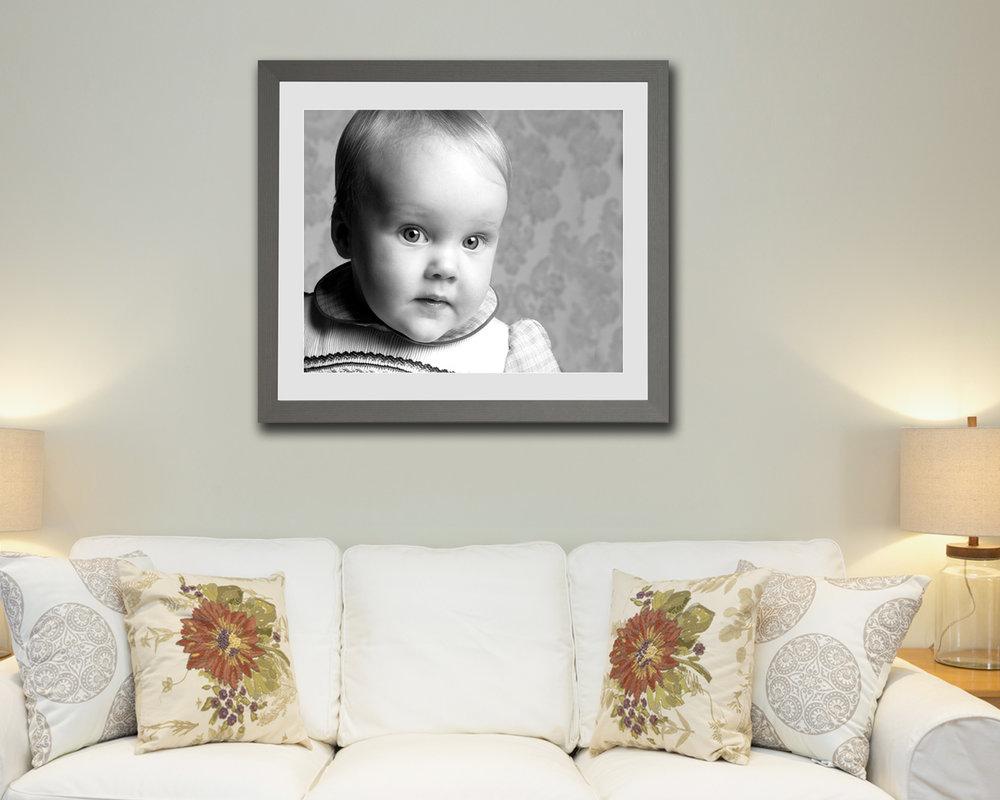 lifestyle frame framing framed prints black white modern art classic