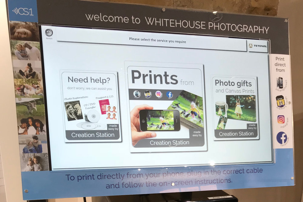 instant printing kiosk phone ipad facebook instagram gifts
