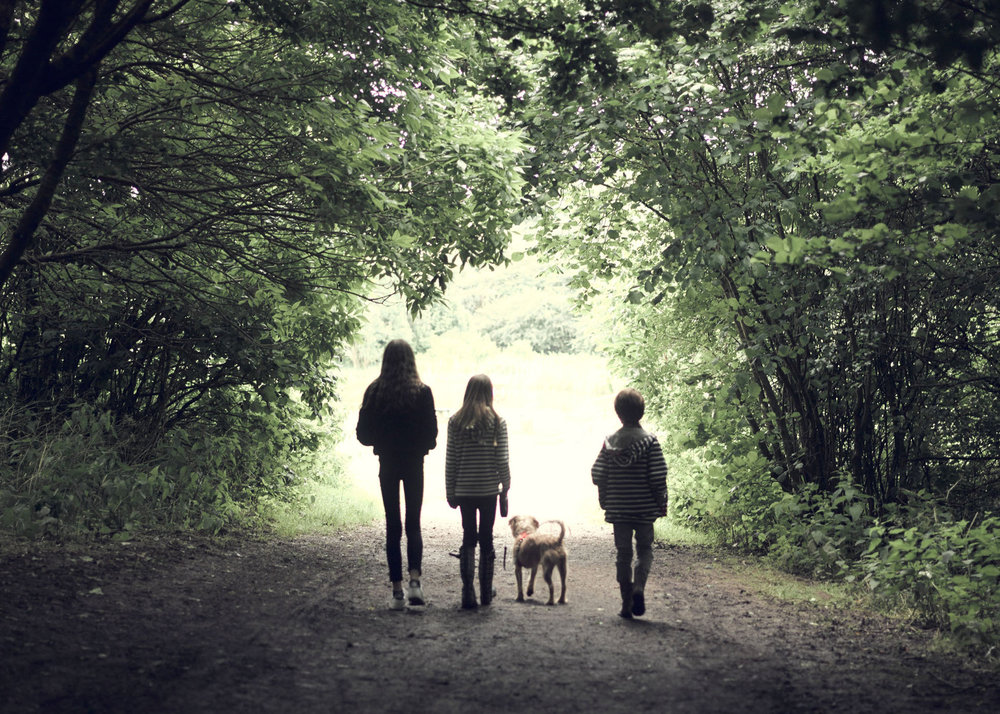 kids walking portrait location photography family kids pet dog whitehouse