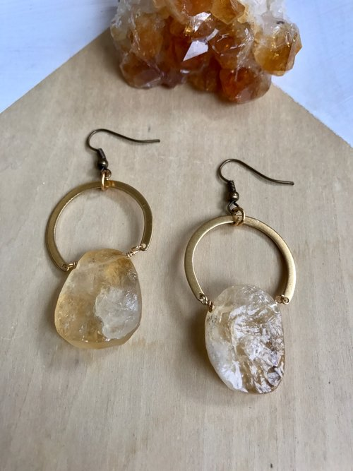 citrine earrings lalunette jewelry