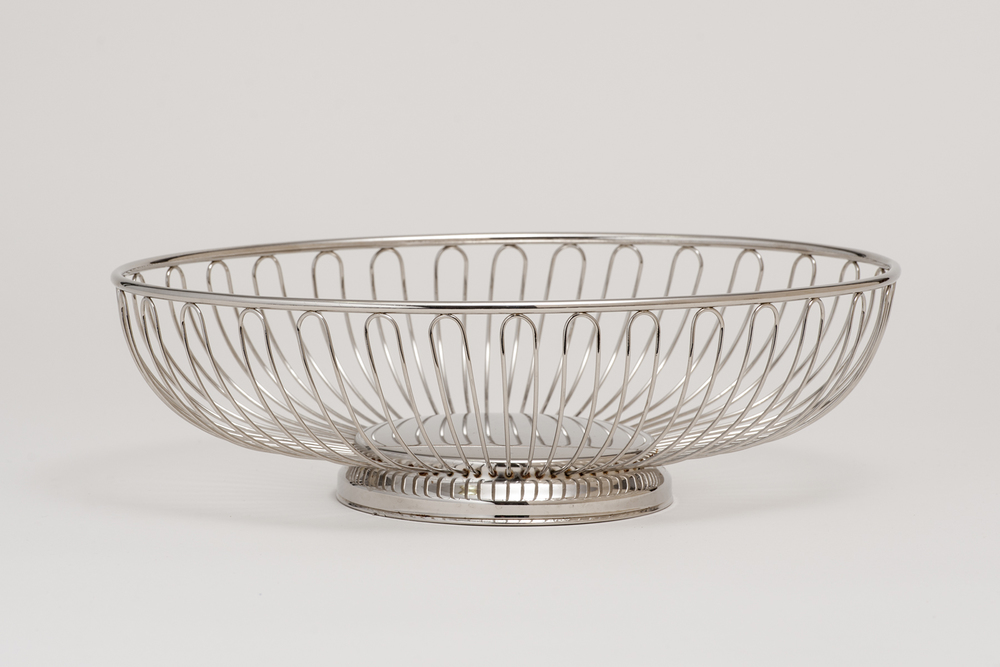 Oval Silver Basket
