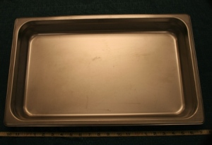 "Full Food Pan/Hotel Pan (Normal) Width 12 3/4""  Length 20 3/4""  Depth 2""  $3.50"
