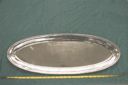 "Cast Aluminum Platter 12 1/2 X 34"" $22.00"