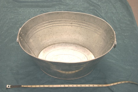 Oval or Round Galvanized Tub   $6.00