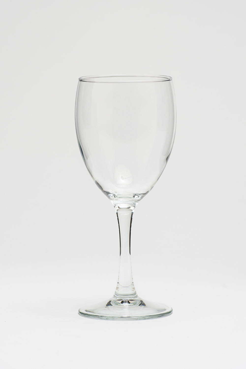 "All Purpose Medium Wine 8 oz. Height 7"" Width 2.5/8"" $0.65"