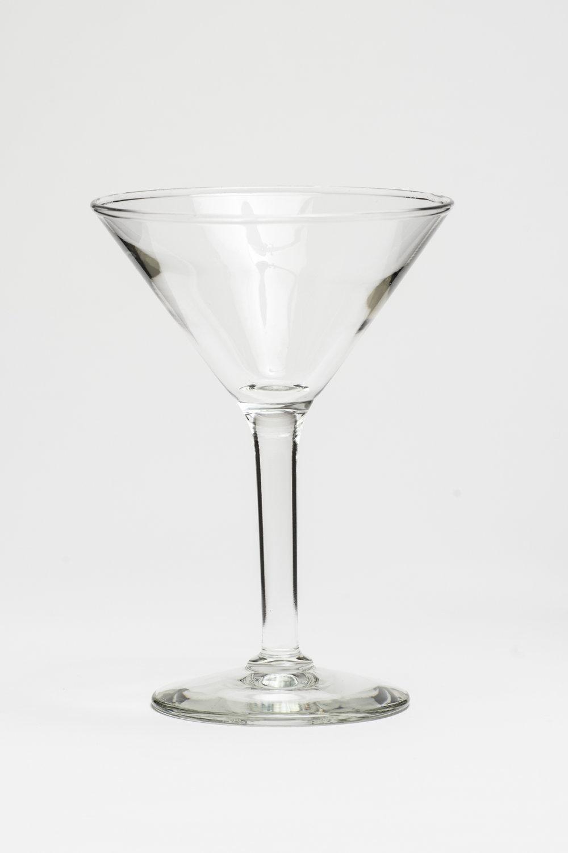"Martini Height 7"" Width 2 5/8   Volume 4 oz. $0.70"