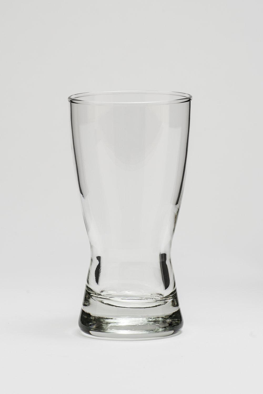 """Pilsner Glass 9 oz. Height 6"""" Width 2 3/4"""" $0.65"""