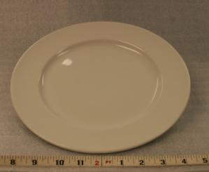 """White Elegance Dinner Plate Height 1"""" Width 10 1/4"""" $0.70"""