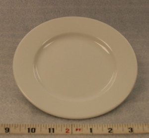 "White Elegance Salad Plate   Height 1""  Width 7""  $0.70"