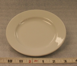 "White Elegance Bread and Butter   Height 1""  Width 6""  $0.70"