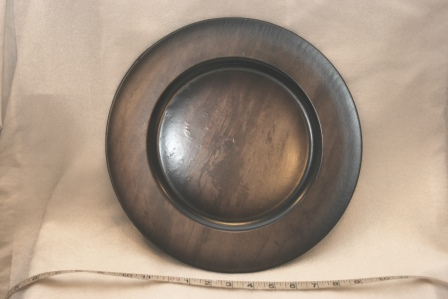 "Wood Grain Charger 13"" $2.50"