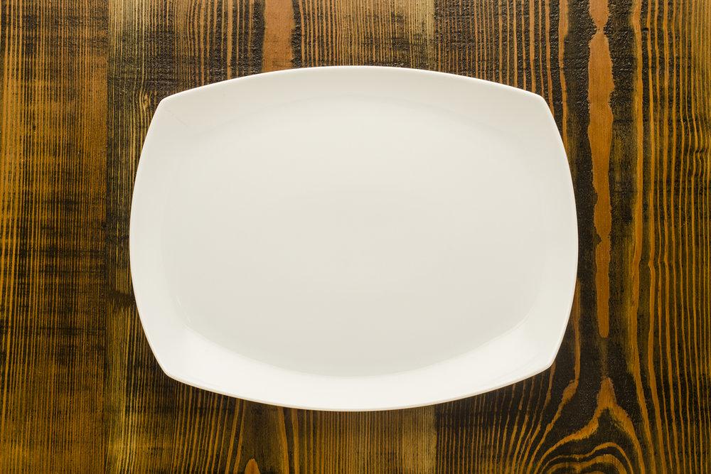 """Aurora Serving Platter Length 14"""" Width 11"""" $10.00"""