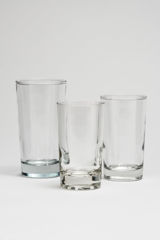 "7 oz Highball Glass Height 7"" Width 2 3/8"" 9 oz. Highball Glass Height  Width     11 oz Highball Glass Height 5 1/4"" Width 2 5/8"" $0.65"