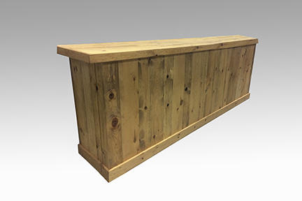 Wood Plank, Light Stain 10' Bar   $350.00