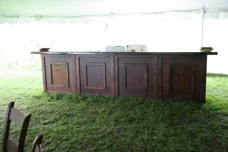 Mahogany 14' Bar with removable front panels   $500.00