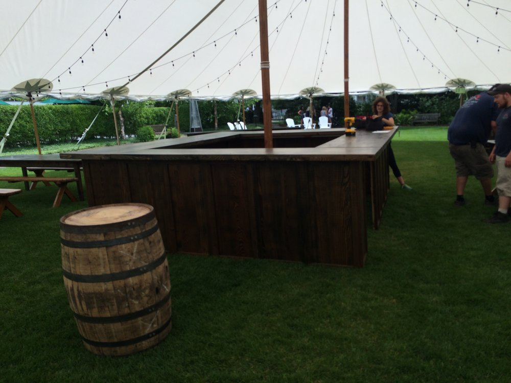 Barnboard 4-sided 11'x13' bar   $2500.00