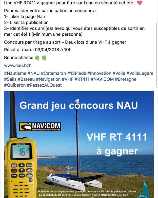Direction Facebook sur la page : nau_bzh  Pour un #jeu #concours #NAU #Bretagne #PassezALOuest #finisteretourisme #bretagnetourisme #catamaran #sail #sails #bateau #voile #voilemagazine #voileetvoilier #innovation #startup #bateau #mer #sea #boat #bretagne #bzh #breizh #morbihan