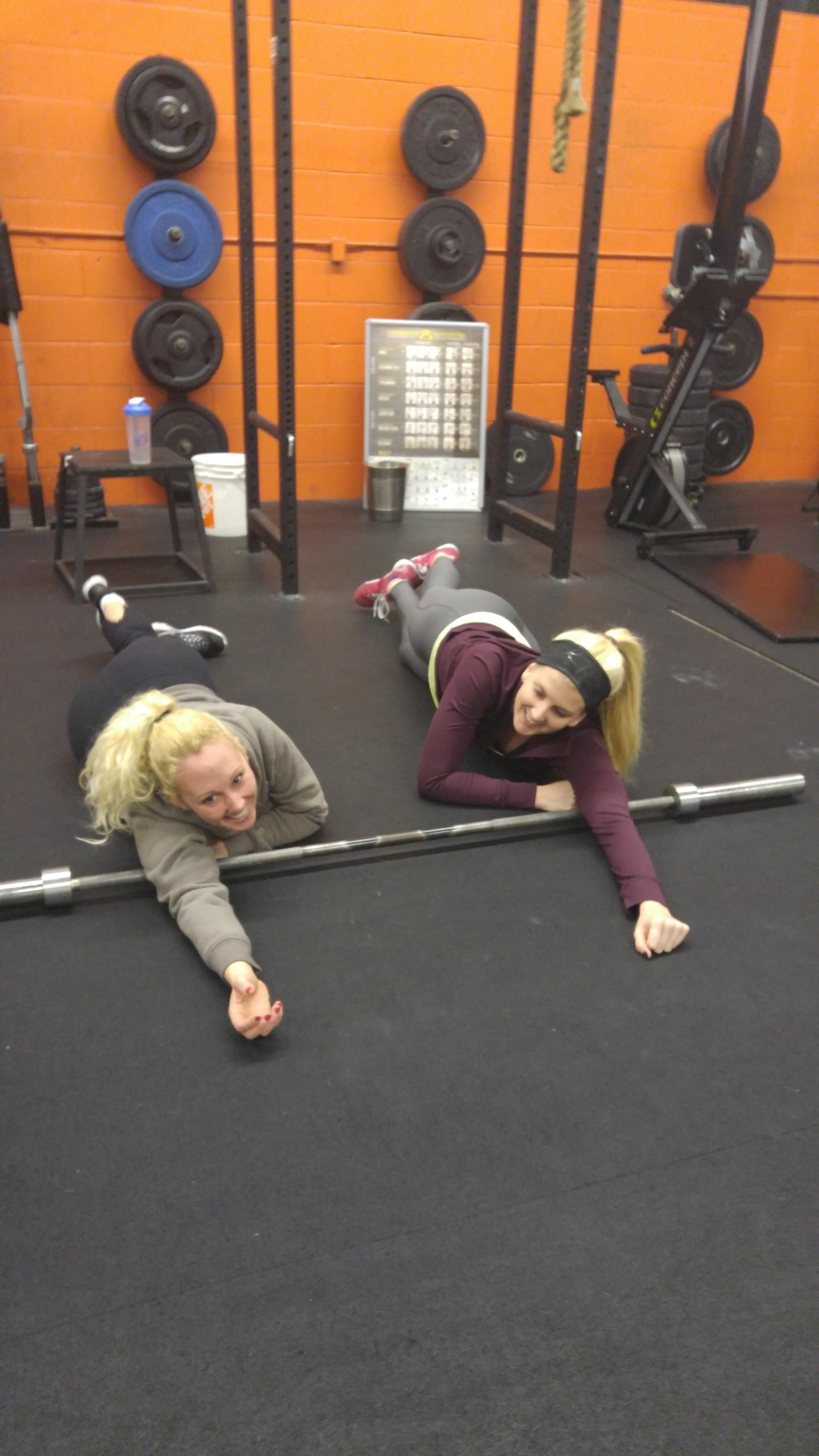 Ashleigh and Sarah R mobilizing those swolen traps!