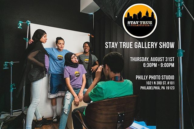 This Thursday we will be hosting a galley show for the @staytruephilly students we have been working with all summer. The students will be displaying photographs and artwork they have created over the past few months. Feel free to stop in and see their work and meet some amazing kids!