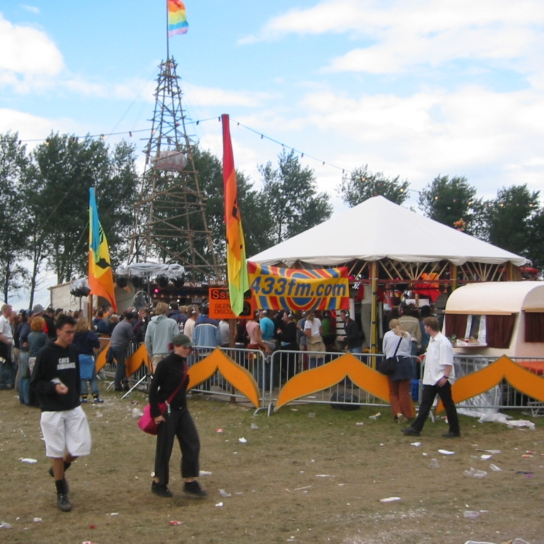 Silent Disco at Lowlands Festival, Holland, 2003
