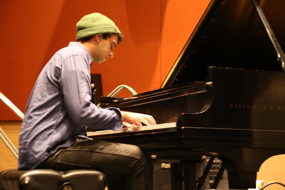 Utsav Lal playing the piano