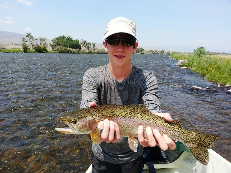 James Claffey with a beautiful Madison River Rainbow Trout
