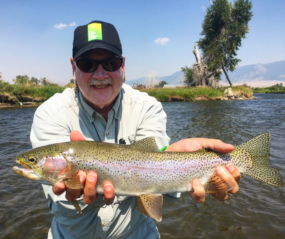 A Madison River Rainbow Trout caught on a hopper